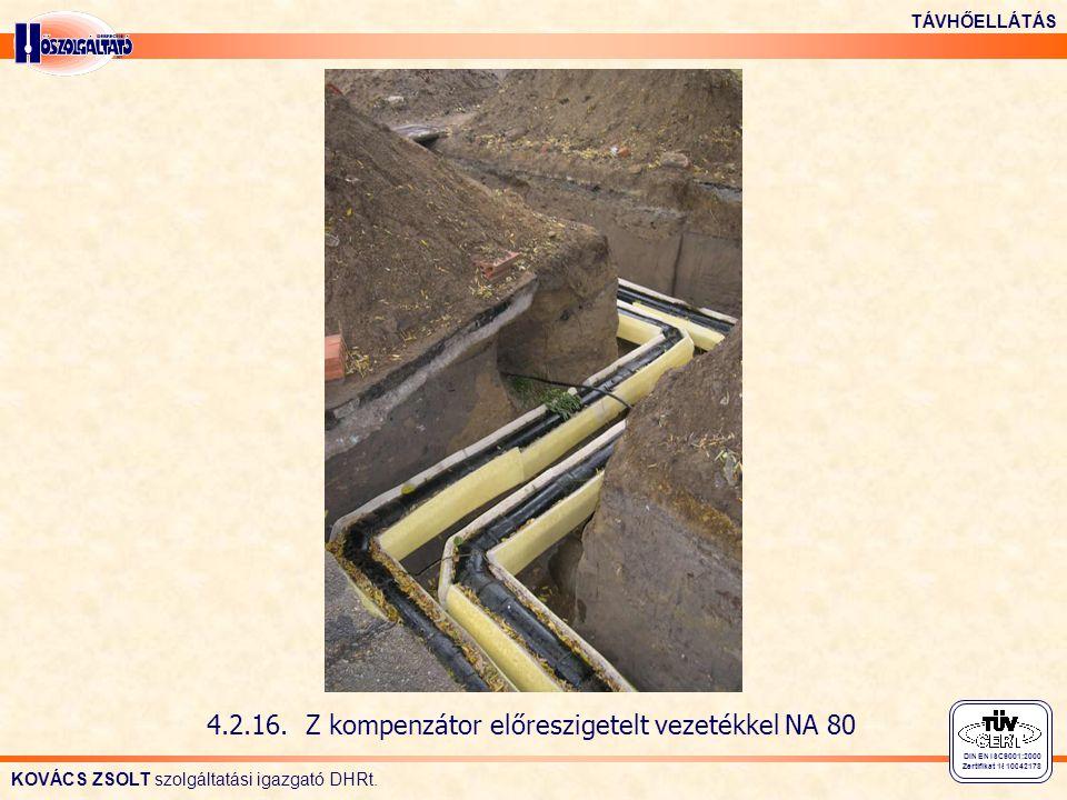 4.2.16. Z kompenzátor előreszigetelt vezetékkel NA 80