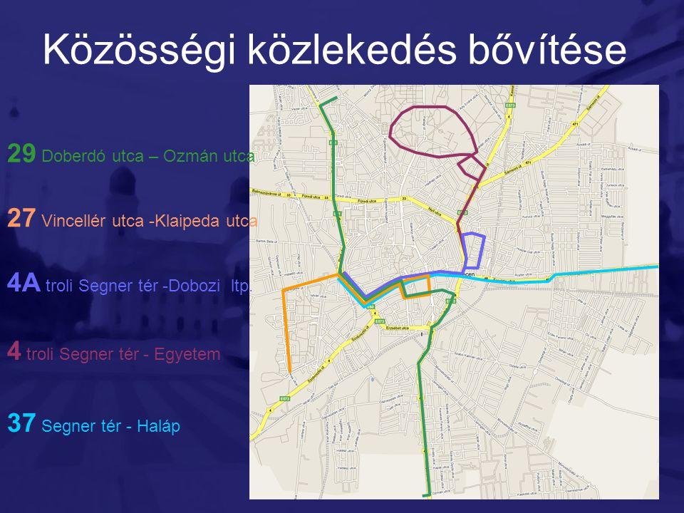 Közösségi közlekedés bővítése