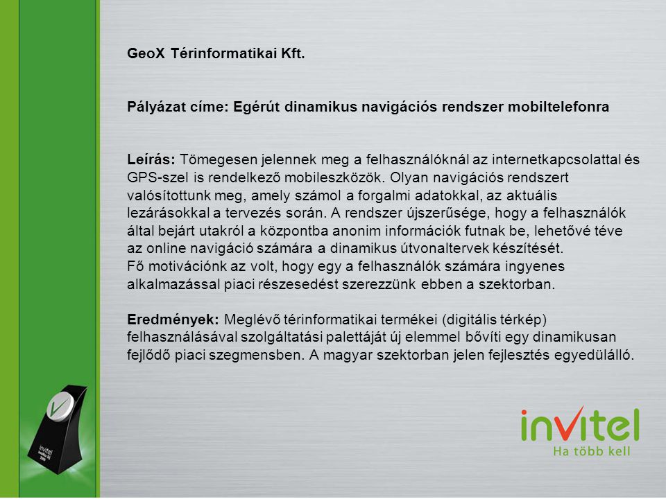 GeoX Térinformatikai Kft