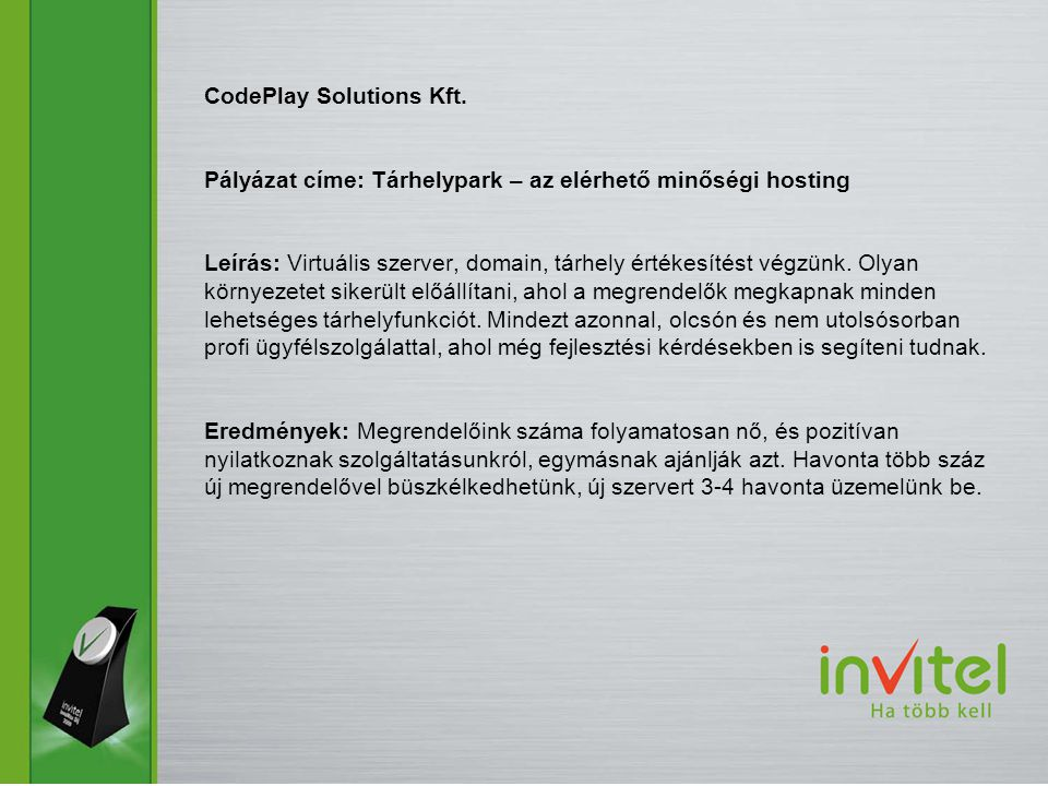 CodePlay Solutions Kft