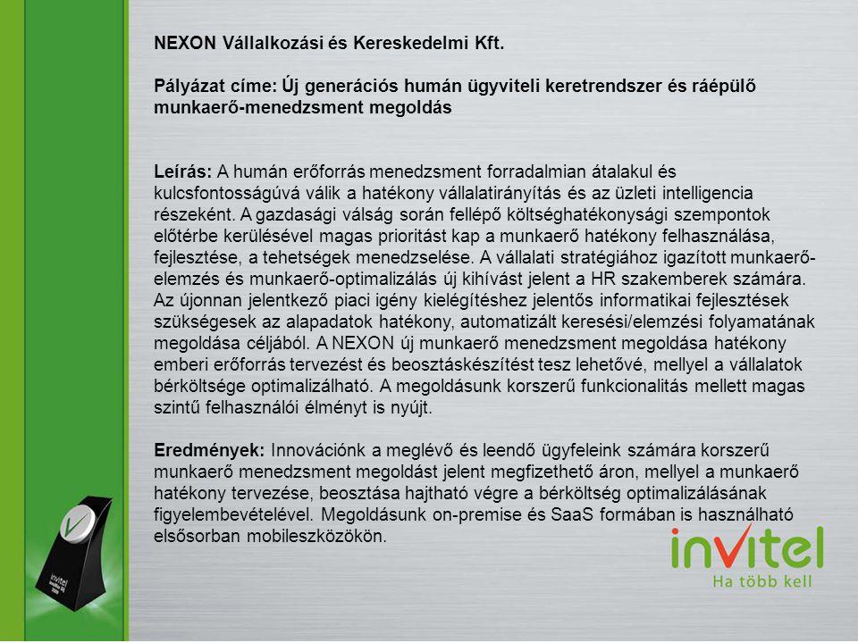 NEXON Vállalkozási és Kereskedelmi Kft.