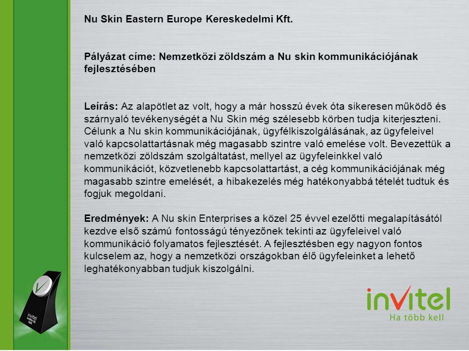 Nu Skin Eastern Europe Kereskedelmi Kft.