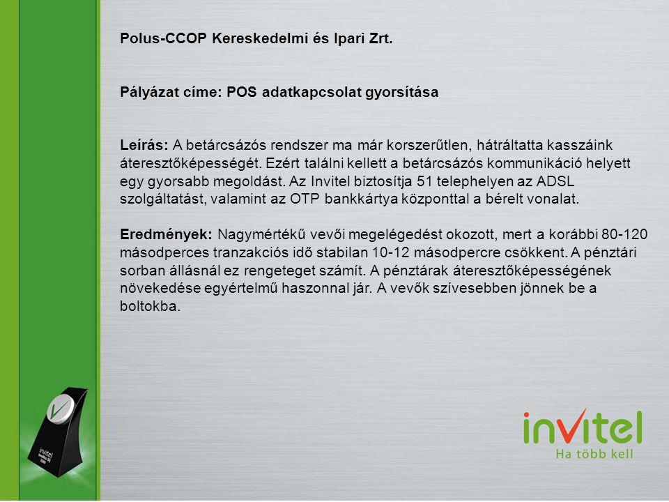 Polus-CCOP Kereskedelmi és Ipari Zrt.