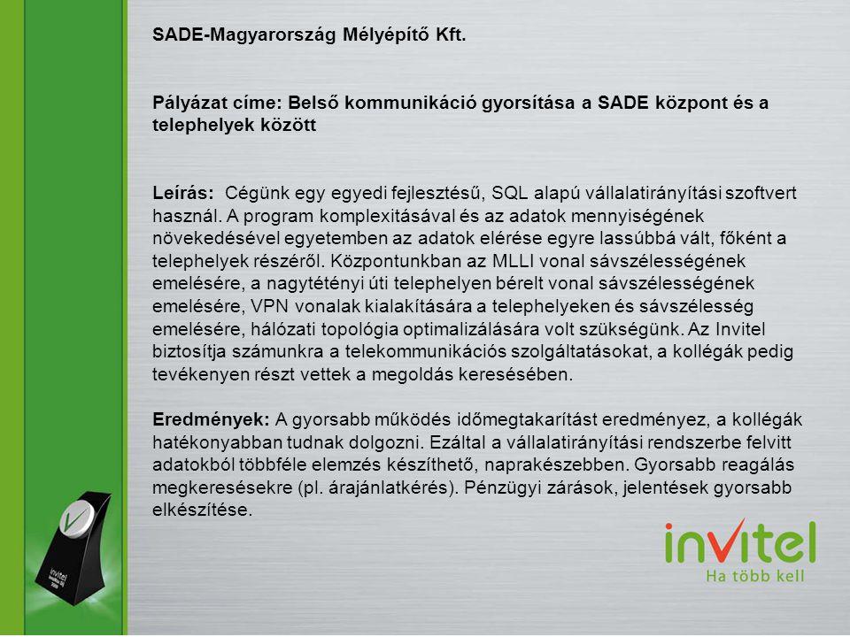 SADE-Magyarország Mélyépítő Kft.
