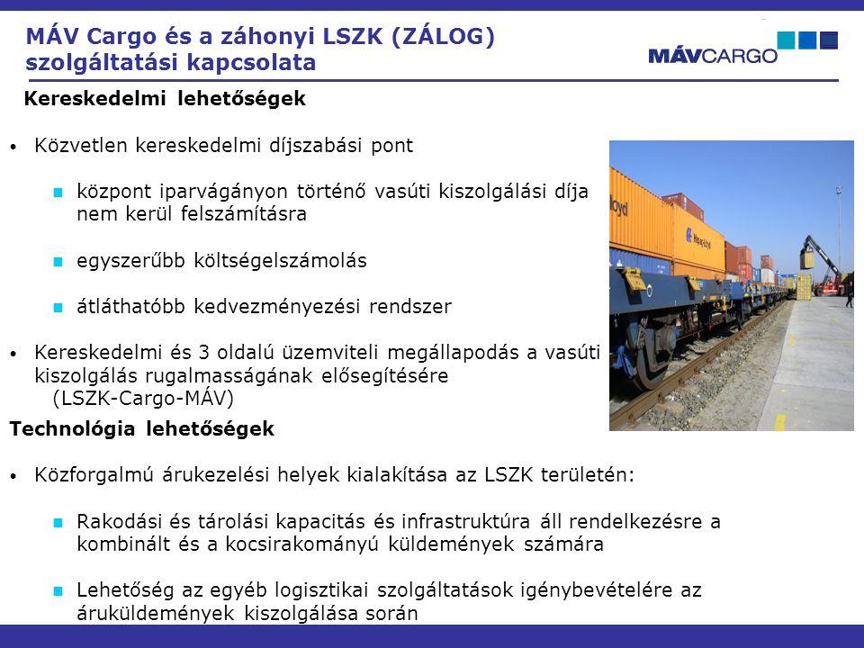 MÁV Cargo és a záhonyi LSZK (ZÁLOG) szolgáltatási kapcsolata