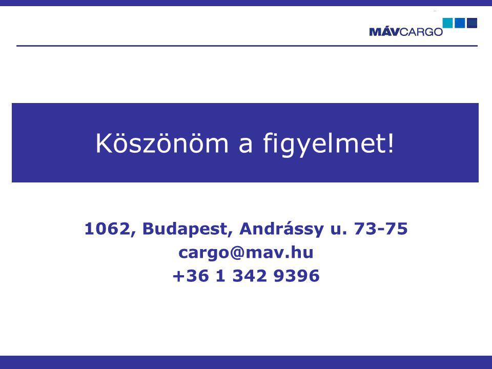 1062, Budapest, Andrássy u. 73-75 cargo@mav.hu +36 1 342 9396