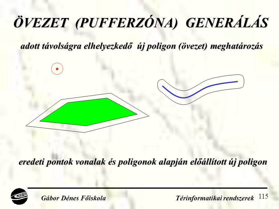 ÖVEZET (PUFFERZÓNA) GENERÁLÁS
