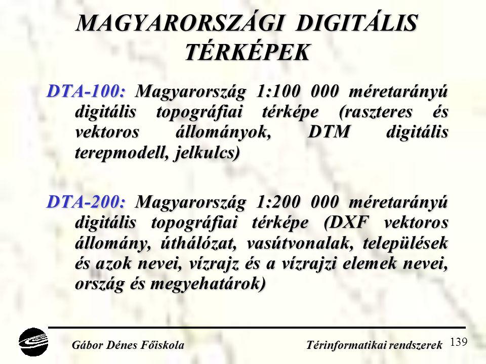 MAGYARORSZÁGI DIGITÁLIS TÉRKÉPEK