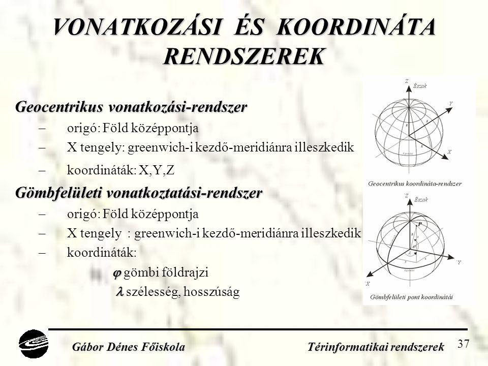 VONATKOZÁSI ÉS KOORDINÁTA RENDSZEREK