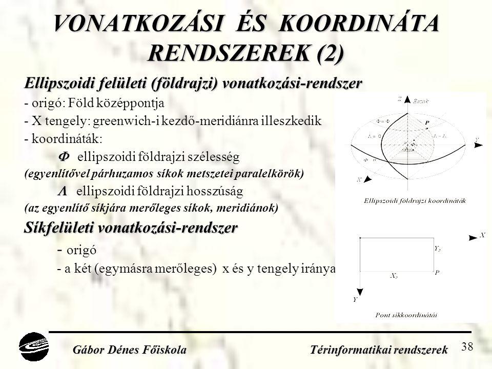 VONATKOZÁSI ÉS KOORDINÁTA RENDSZEREK (2)