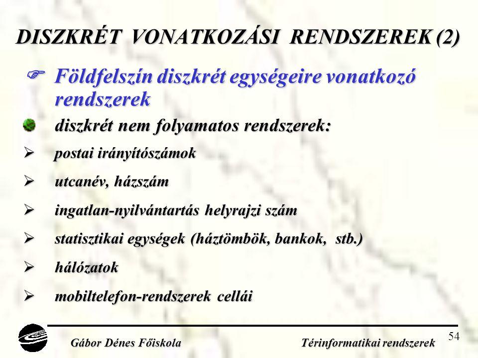 DISZKRÉT VONATKOZÁSI RENDSZEREK (2)