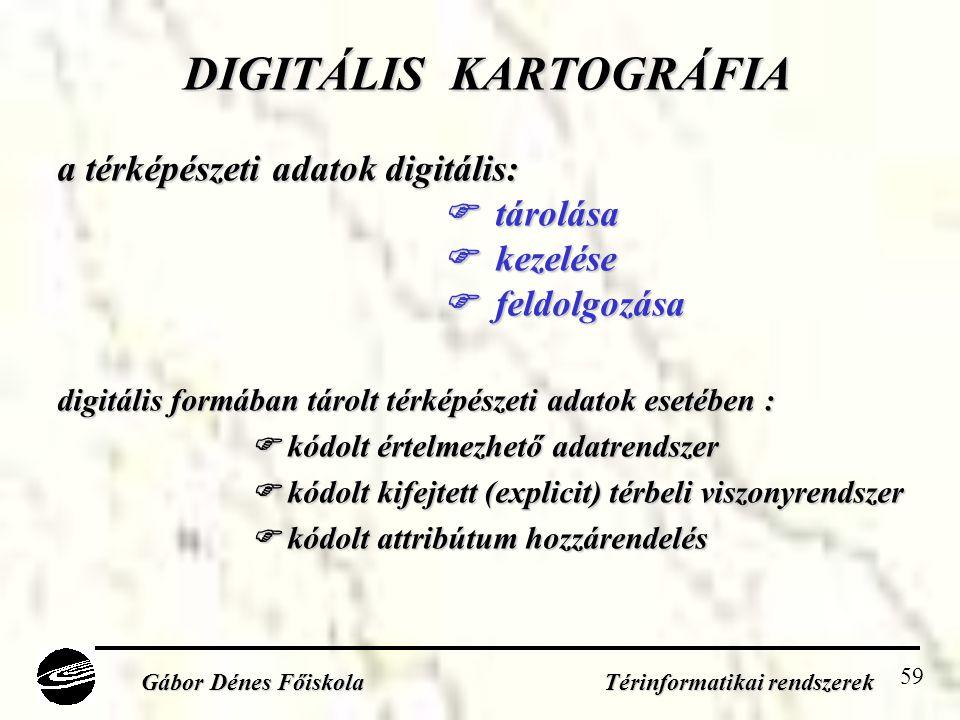 DIGITÁLIS KARTOGRÁFIA