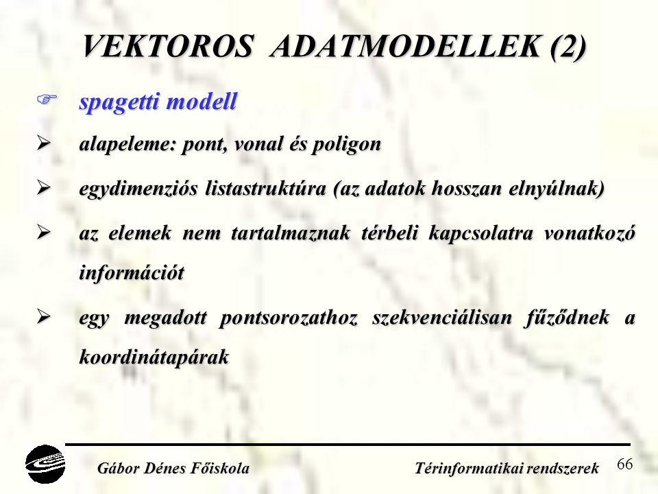 VEKTOROS ADATMODELLEK (2)