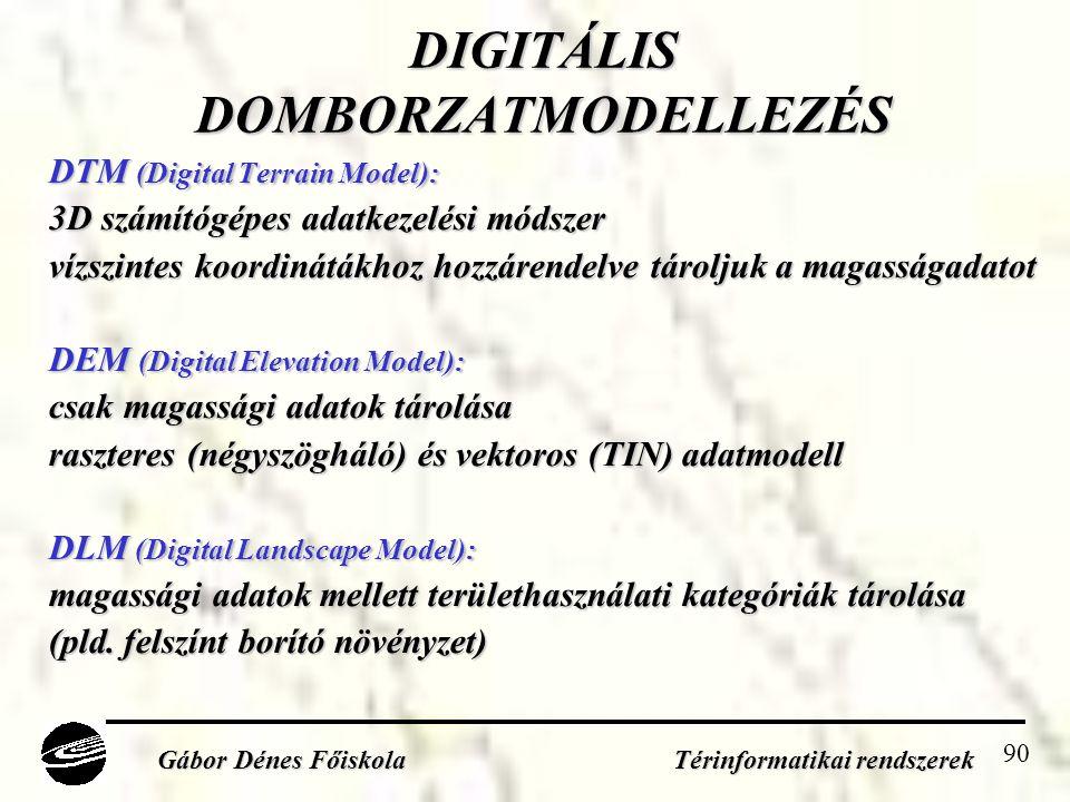 DIGITÁLIS DOMBORZATMODELLEZÉS