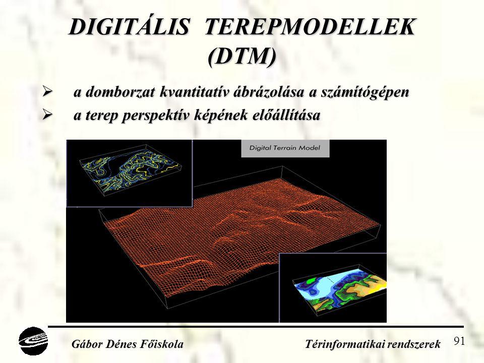 DIGITÁLIS TEREPMODELLEK (DTM)