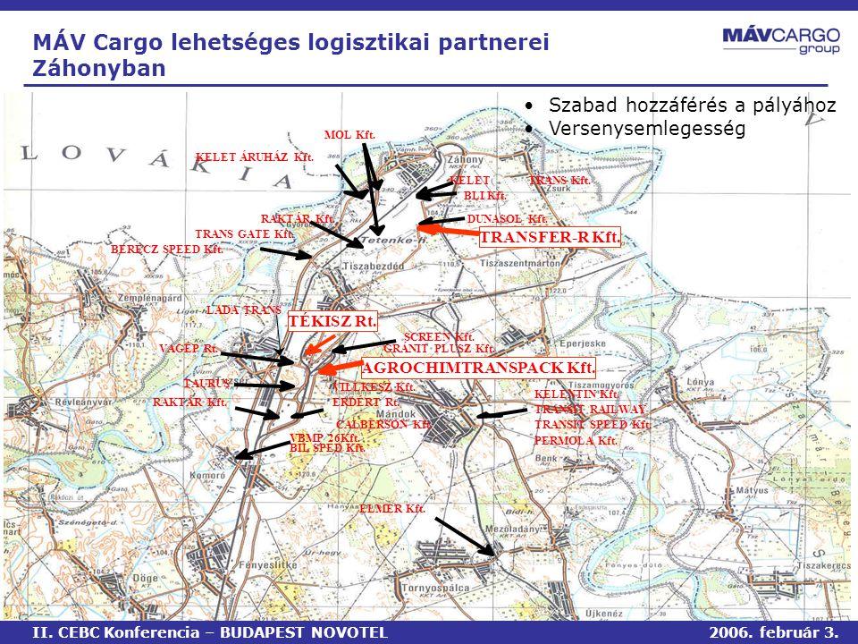 MÁV Cargo lehetséges logisztikai partnerei Záhonyban