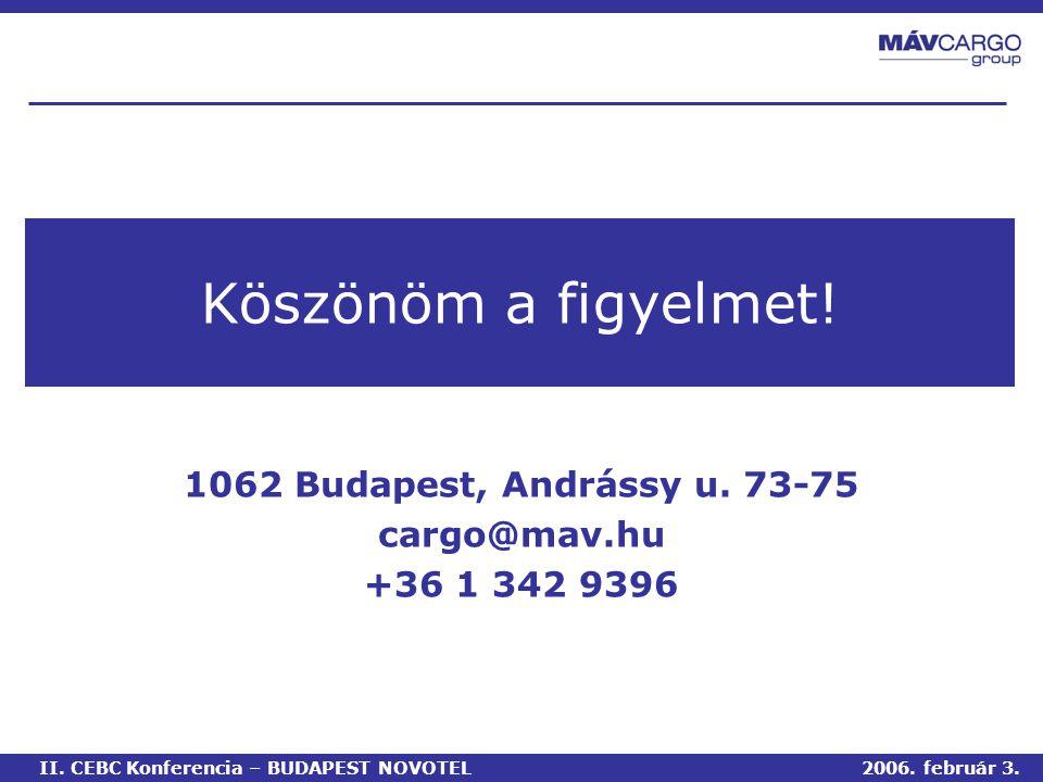 1062 Budapest, Andrássy u. 73-75 cargo@mav.hu +36 1 342 9396