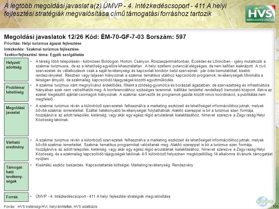 Megoldási javaslatok 12/26 Kód: ÉM-70-GF-7-03 Sorszám: 597