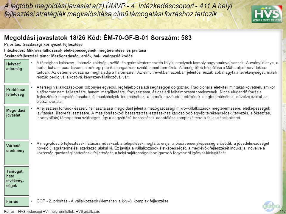Megoldási javaslatok 18/26 Kód: ÉM-70-GF-B-01 Sorszám: 583