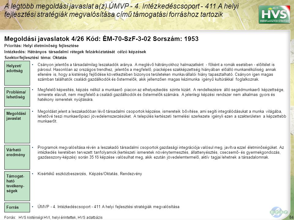 Megoldási javaslatok 4/26 Kód: ÉM-70-SzF-3-02 Sorszám: 1953