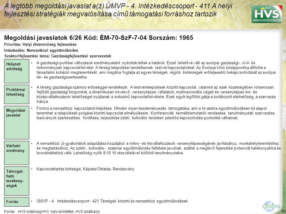 Megoldási javaslatok 6/26 Kód: ÉM-70-SzF-7-04 Sorszám: 1965