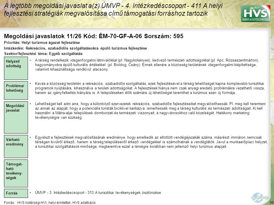 Megoldási javaslatok 11/26 Kód: ÉM-70-GF-A-06 Sorszám: 595