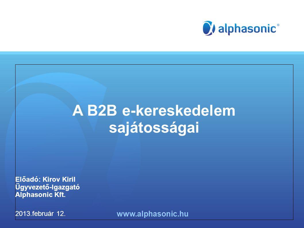 A B2B e-kereskedelem sajátosságai