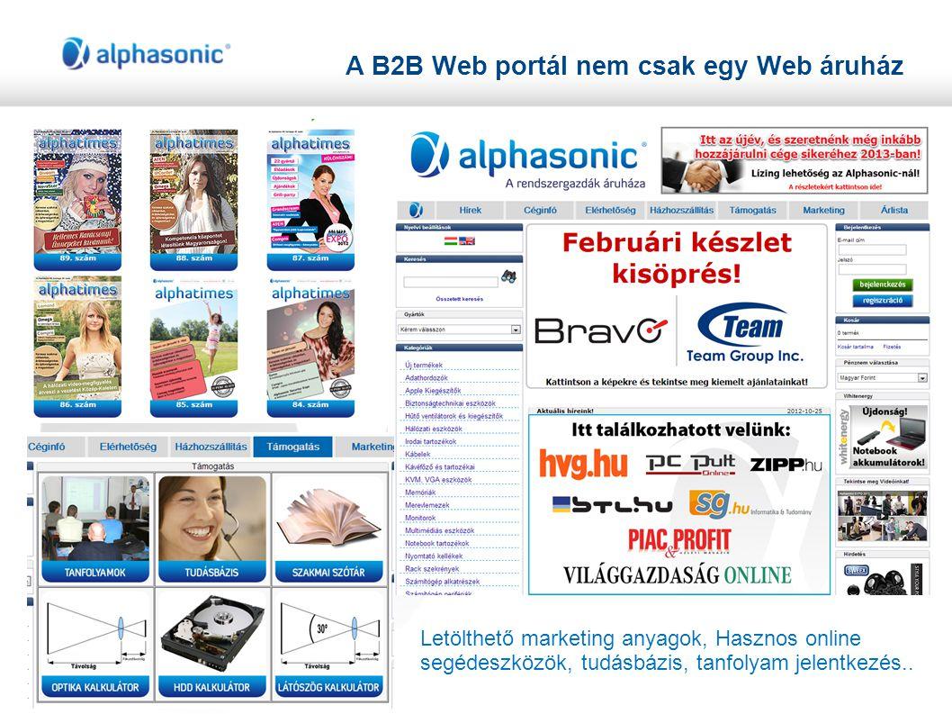 A B2B Web portál nem csak egy Web áruház