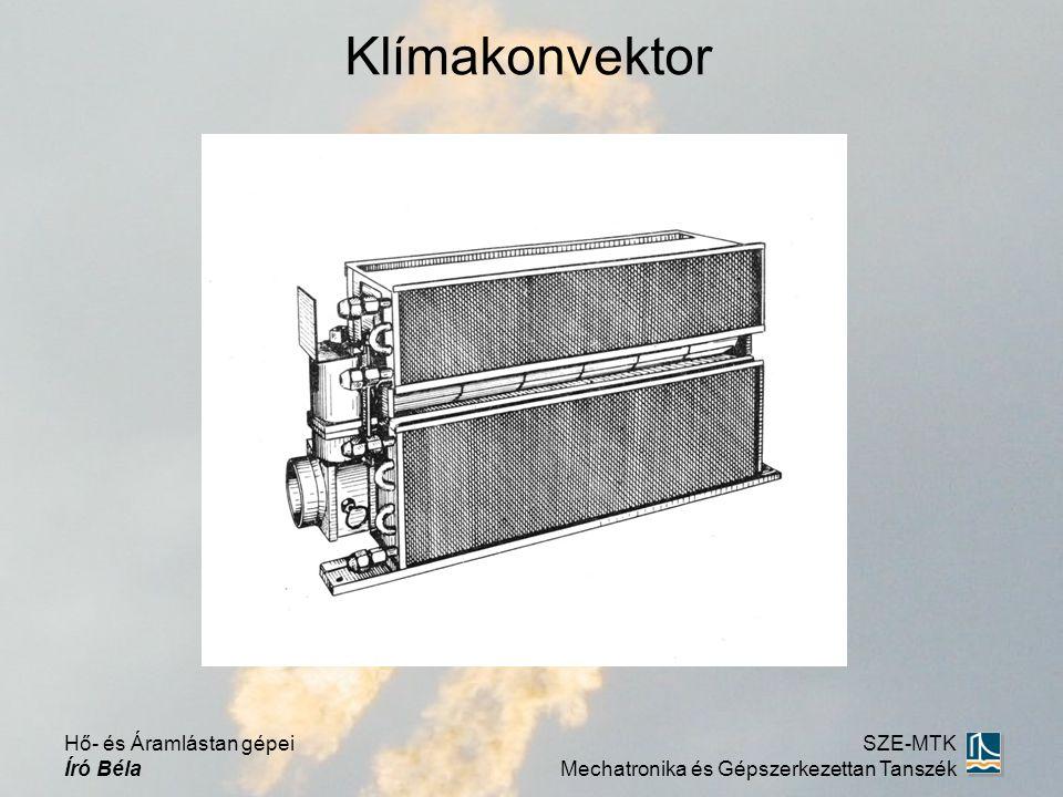 Klímakonvektor Hő- és Áramlástan gépei Író Béla SZE-MTK