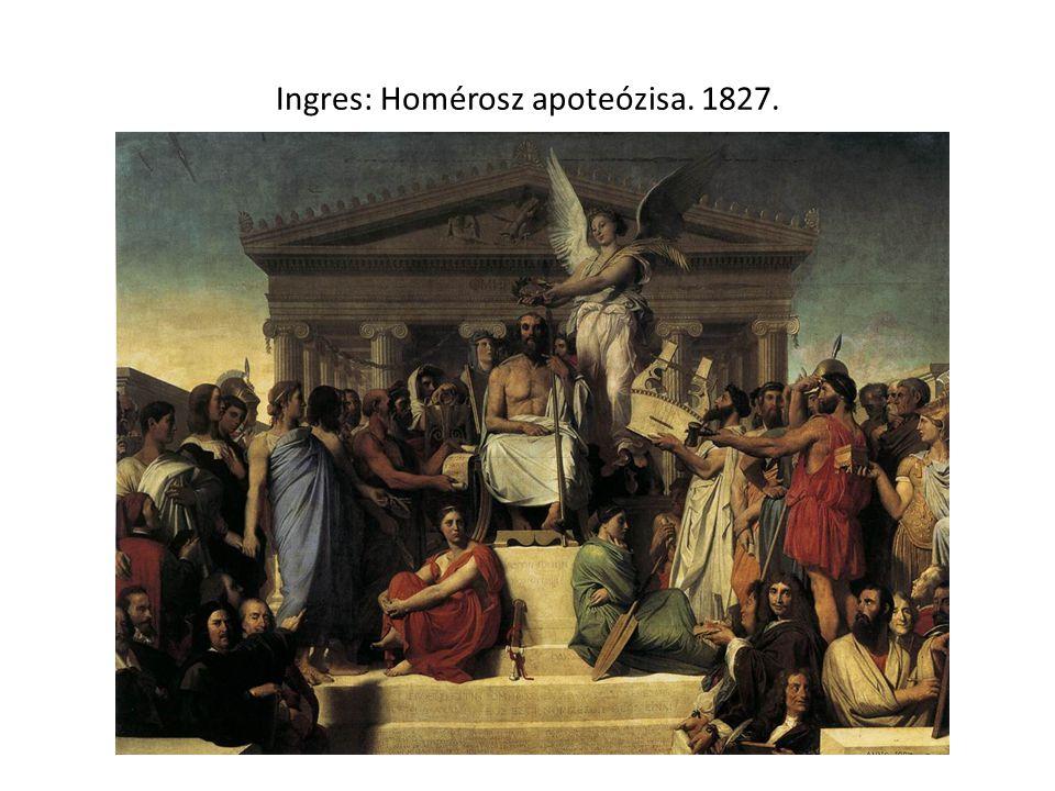 Ingres: Homérosz apoteózisa. 1827.