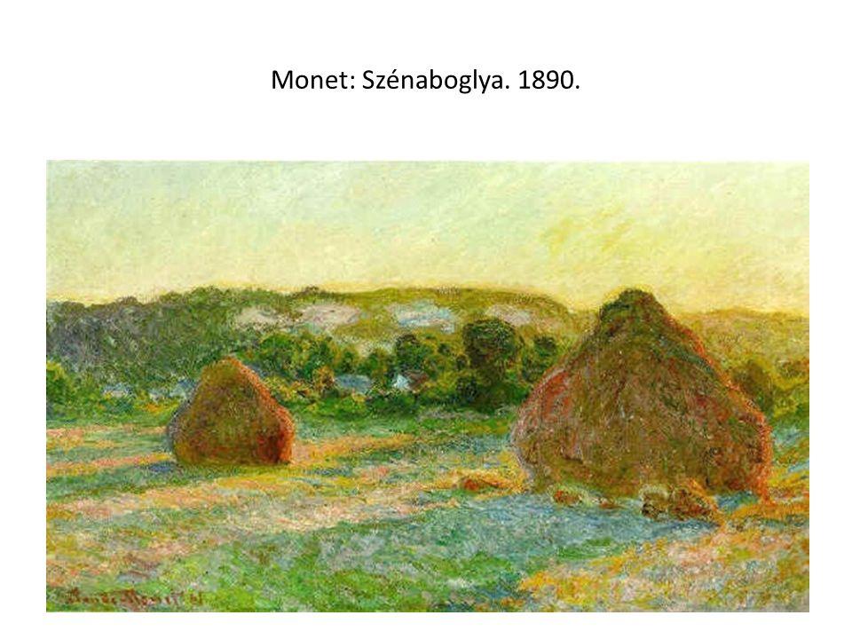 Monet: Szénaboglya. 1890.