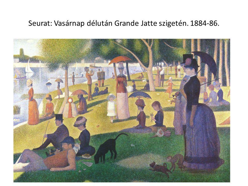 Seurat: Vasárnap délután Grande Jatte szigetén. 1884-86.