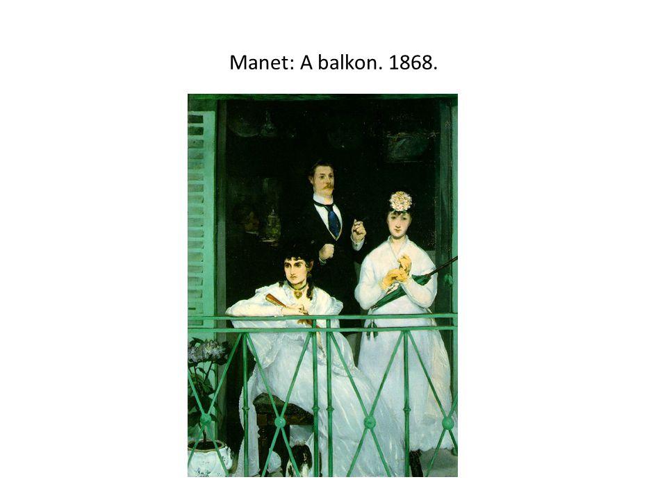 Manet: A balkon. 1868.