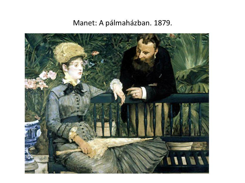 Manet: A pálmaházban. 1879.