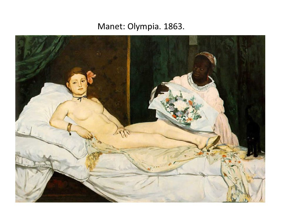 Manet: Olympia. 1863.