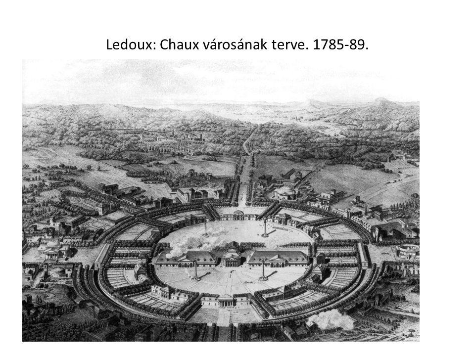 Ledoux: Chaux városának terve. 1785-89.