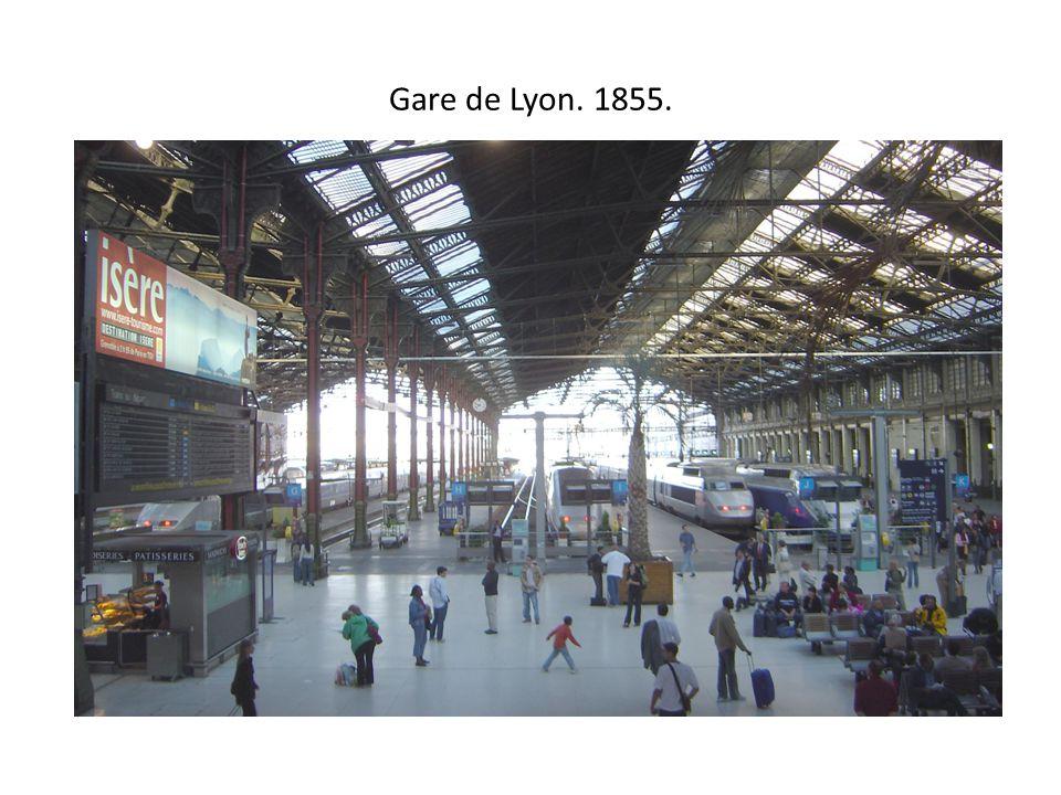 Gare de Lyon. 1855.