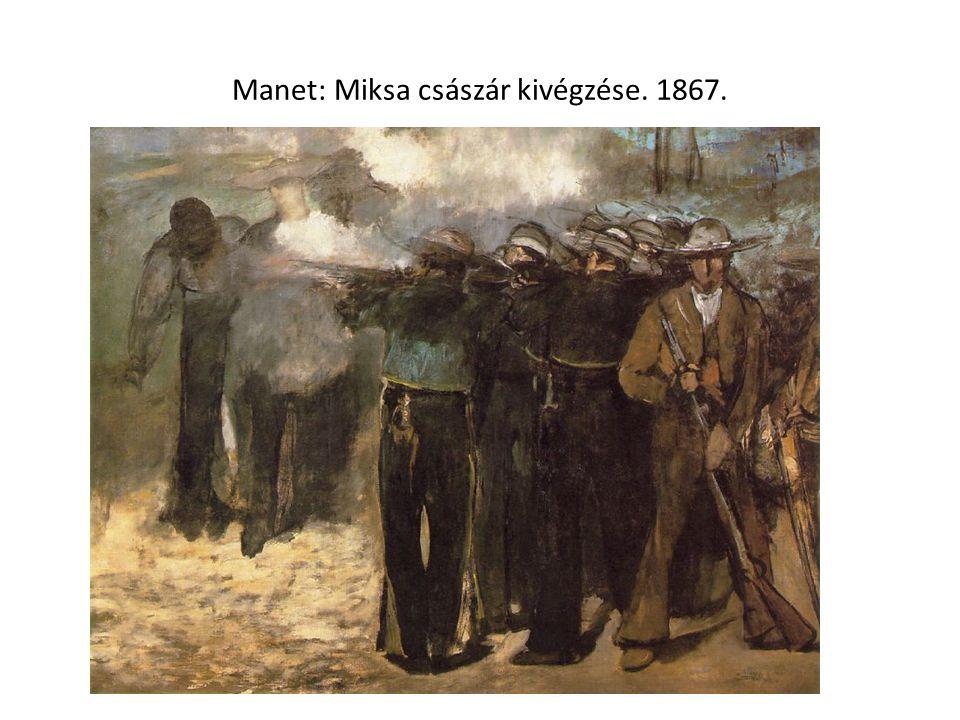 Manet: Miksa császár kivégzése. 1867.