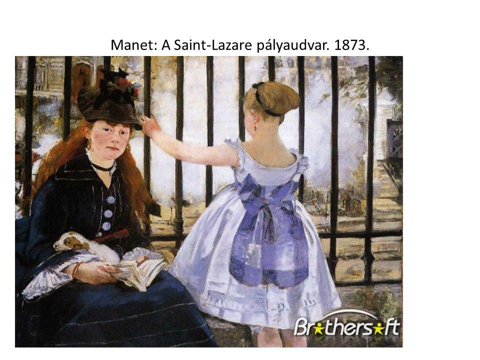 Manet: A Saint-Lazare pályaudvar. 1873.