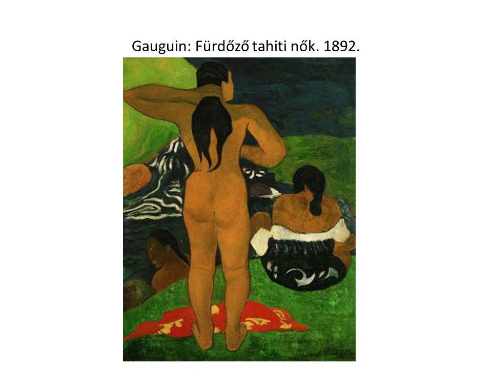 Gauguin: Fürdőző tahiti nők. 1892.