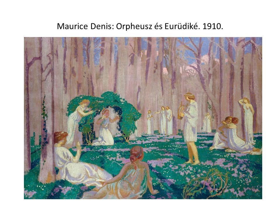 Maurice Denis: Orpheusz és Eurüdiké. 1910.