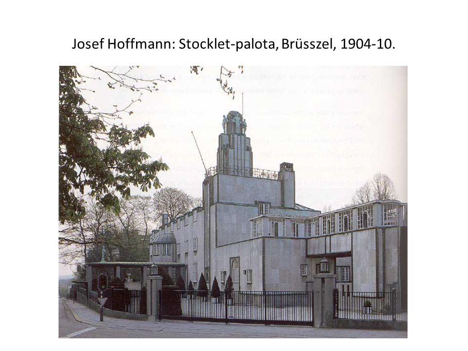 Josef Hoffmann: Stocklet-palota, Brüsszel, 1904-10.