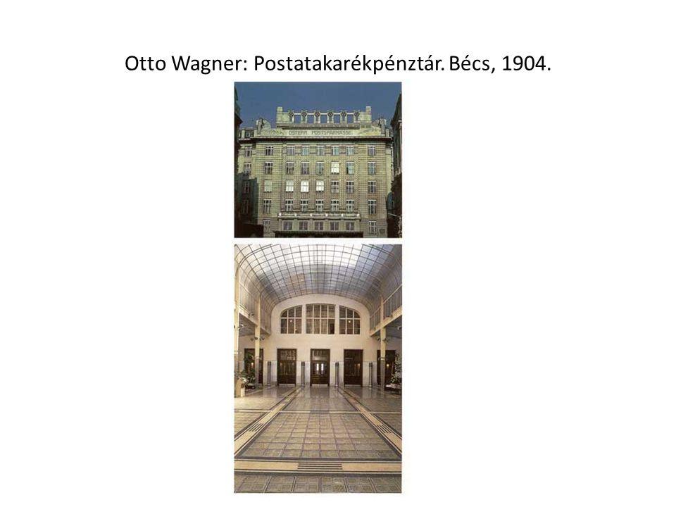 Otto Wagner: Postatakarékpénztár. Bécs, 1904.