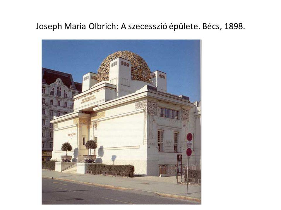 Joseph Maria Olbrich: A szecesszió épülete. Bécs, 1898.