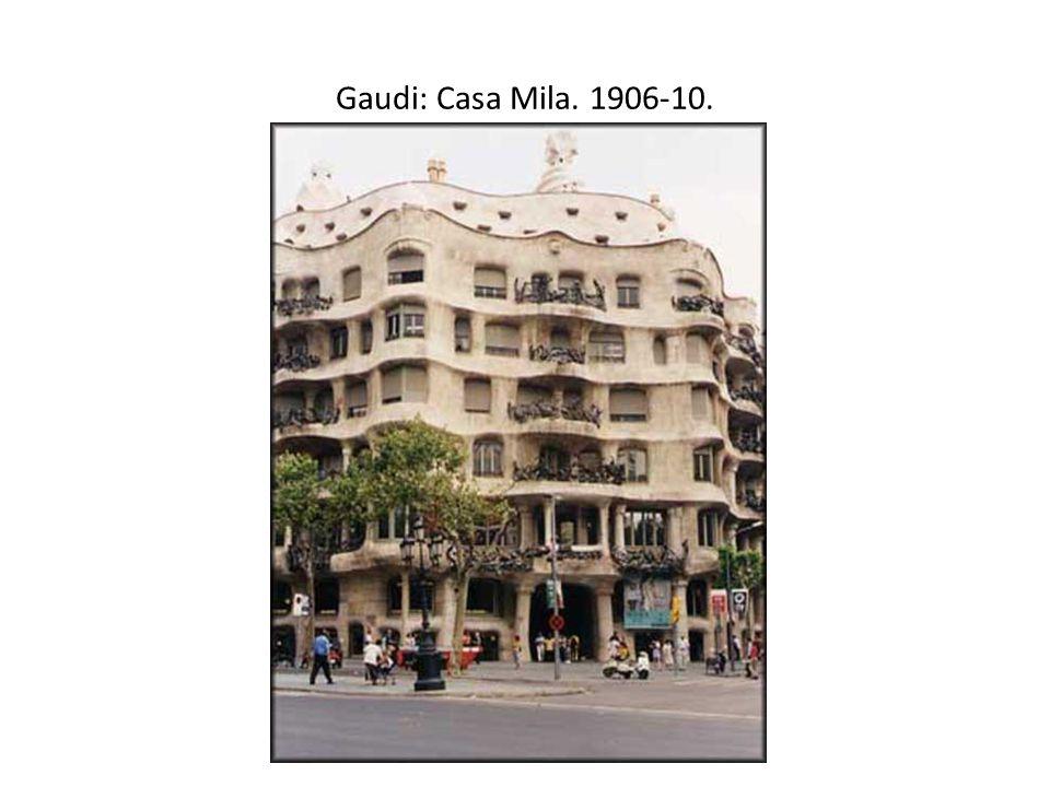 Gaudi: Casa Mila. 1906-10.