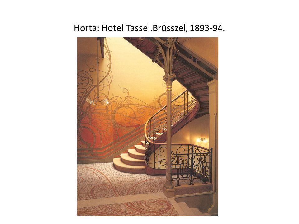 Horta: Hotel Tassel.Brüsszel, 1893-94.