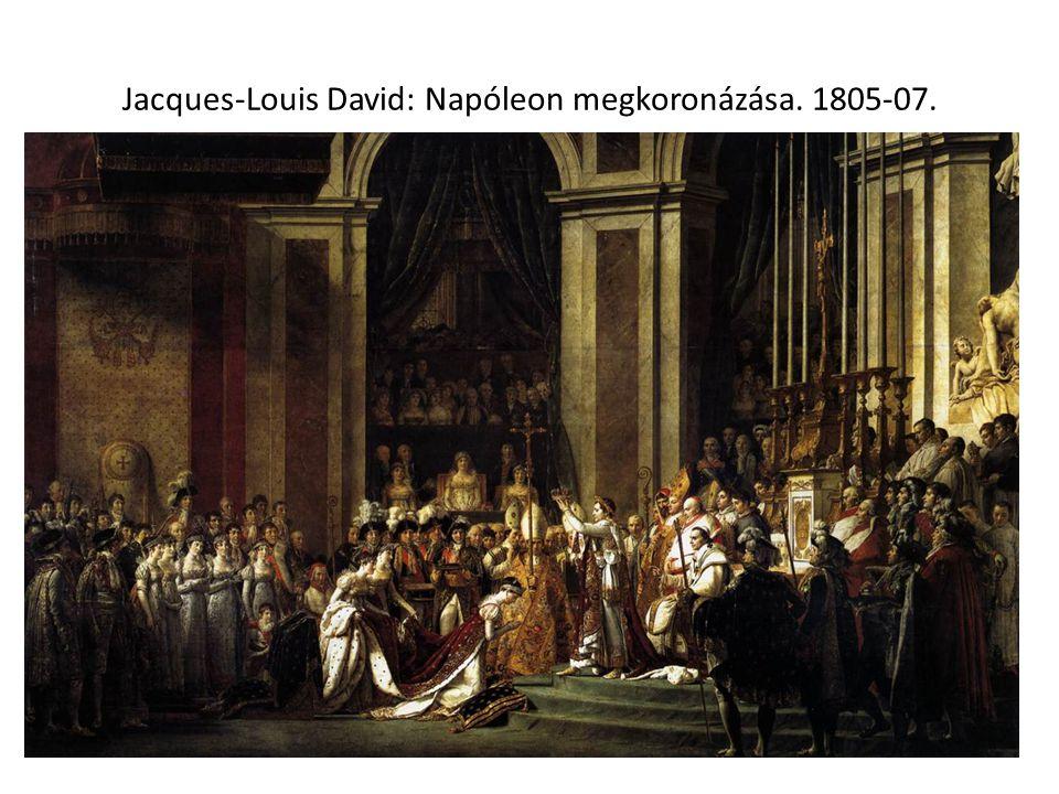 Jacques-Louis David: Napóleon megkoronázása. 1805-07.