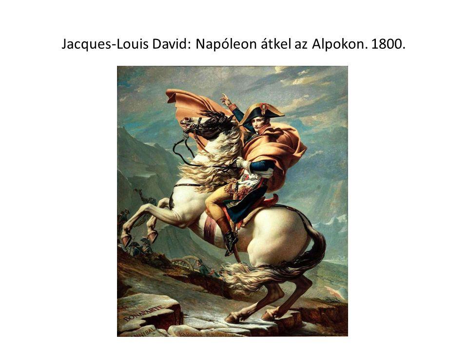 Jacques-Louis David: Napóleon átkel az Alpokon. 1800.