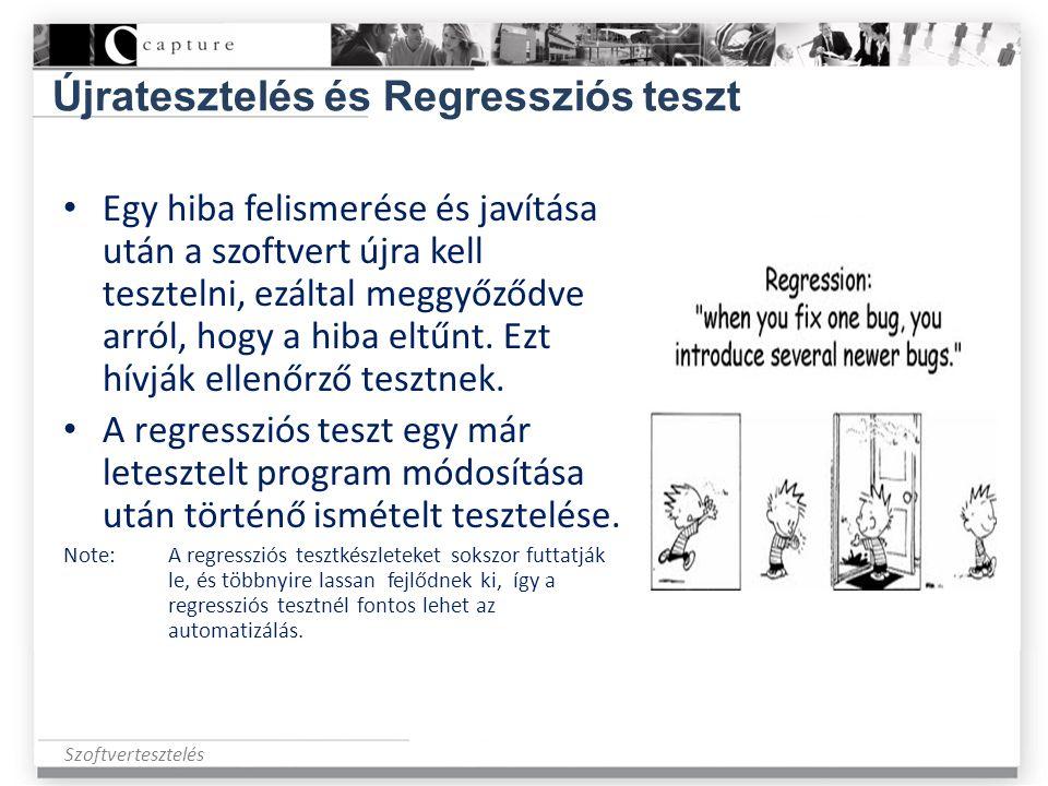 Újratesztelés és Regressziós teszt