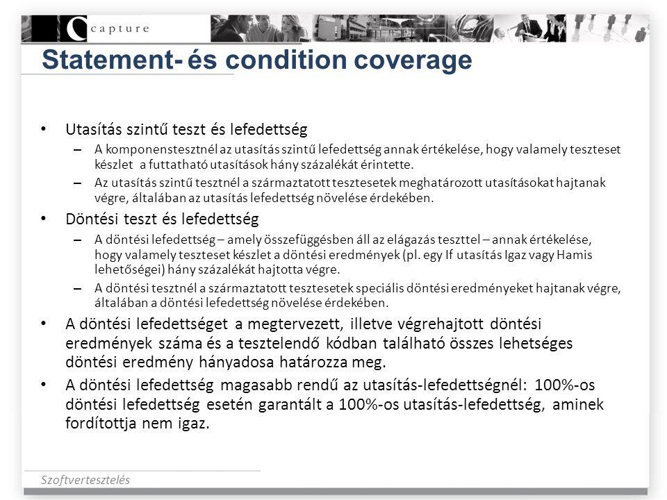 Statement- és condition coverage